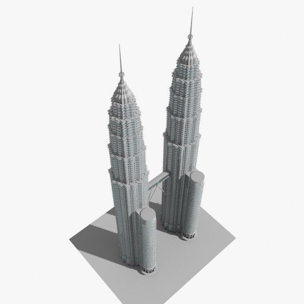 3dsmax petronas twin tower