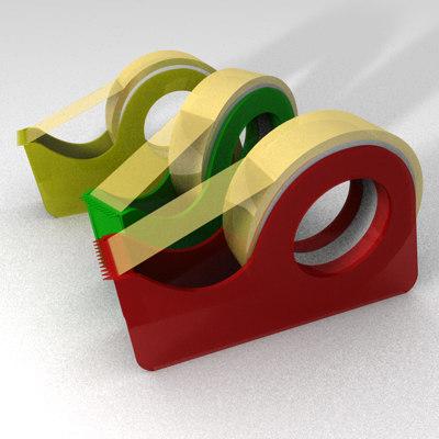 3d adhesive tape model