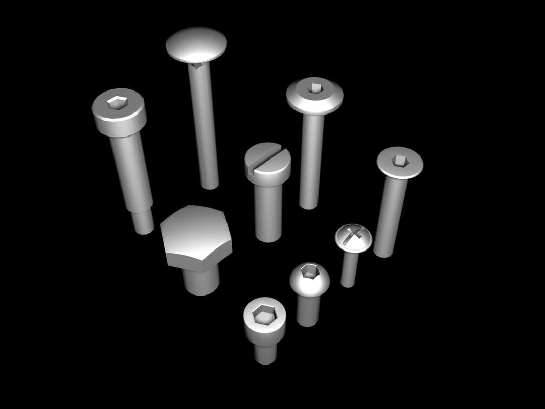 bolts threads 3d model