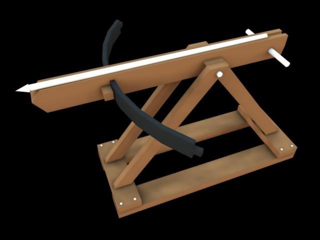 3d model ballista equipment