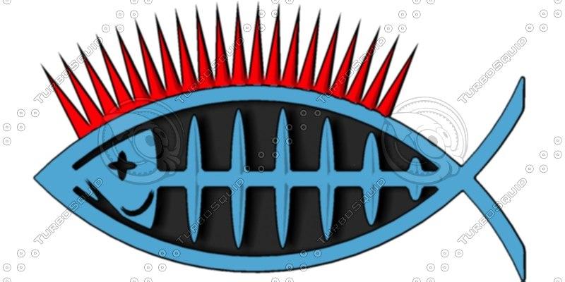 3d punk fish