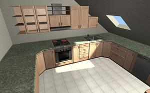 3d kitchen interior furniture model