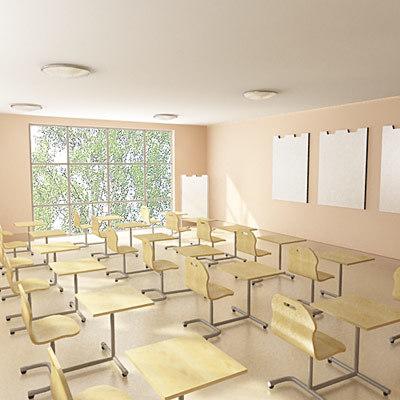 3d school university model
