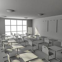 class room 3d 3ds