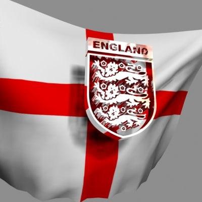 crest flag englands football 3d model