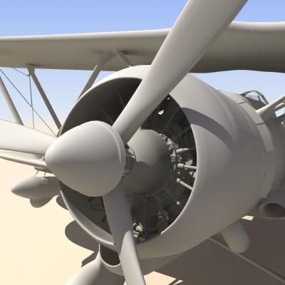 3d realistic fiat cr42 falco model