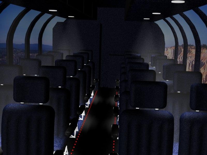 3d bus airplane seat