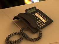 3d model of office phone