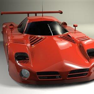 nissan 390 car paint 3d model