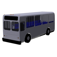 commercial bus mesh 3ds