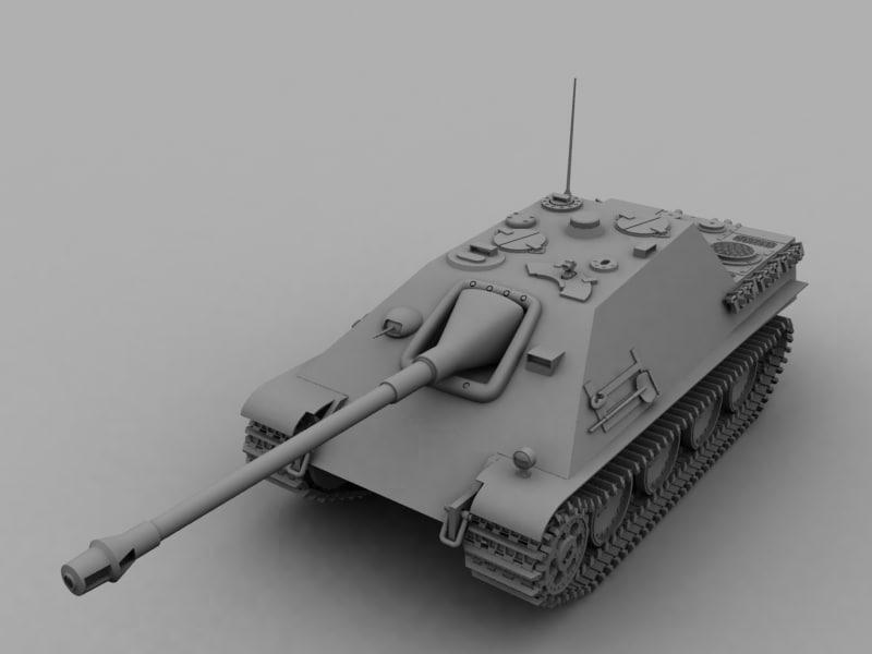 3d ww2 tank jagdpanther model
