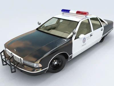 lapd chevrolet caprice police car 3d max