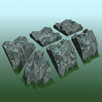 tiled mesh rock tileset 3d model