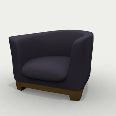 comfy arm chair 3d model