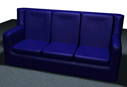 sofa modeled furniture 3d model