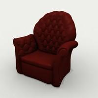 comfy arm chair 3d model