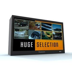 video monitor widescreen 3d model
