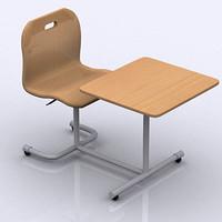 3d seat school model