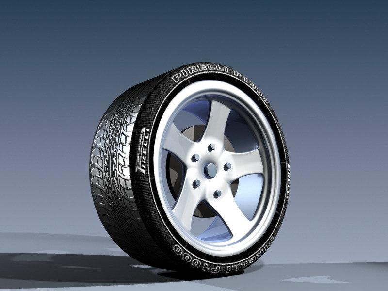 free wheel 3d model