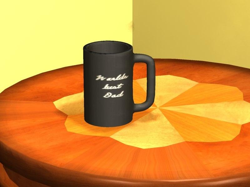 coffee cup mug 3d 3ds