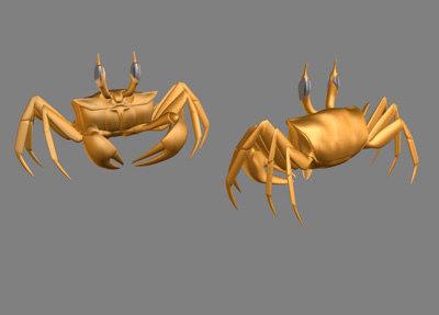 3d ghost crab