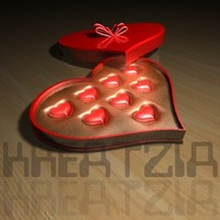 3d model sub-d heart candy box