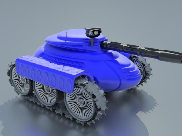 3d manga tank model