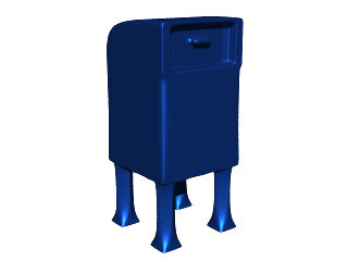 3d model commercial mailbox