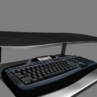 free logitech computer keyboard mx5000 3d model