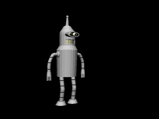 free bender robot 3d model