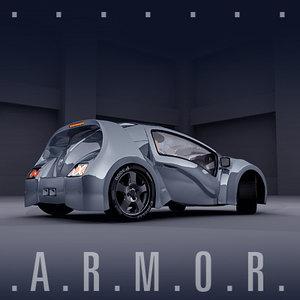 3d model uniqe concept car r