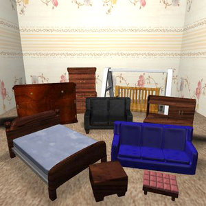 furniture chairs 3ds