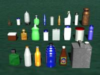 Bottles & Cans (3D)