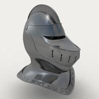 knights helmet 3d model