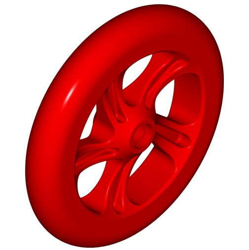 plastic wheel 3d 3ds