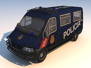 riot squad vehicle 3d max