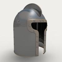 maya european barbute helmet