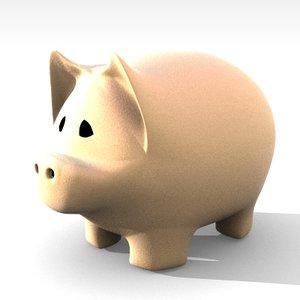 3d pig piggy model