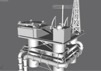 high detail oil rig.gmax