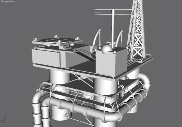 free gmax oil rig 3d model