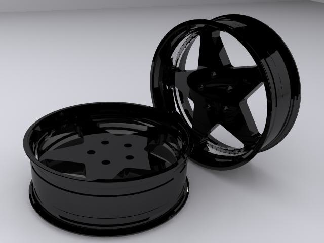 vehicle wheel star rim tire 3d 3ds