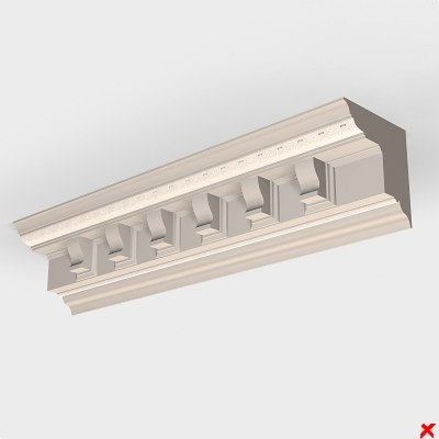 decor cornice ceiling 3d model