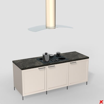kitchen cabinet table 3d max