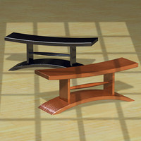 3ds max japanese pod benches