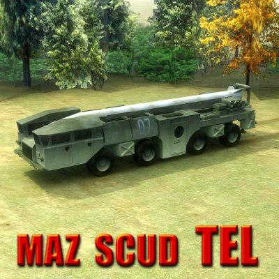 3d model maz missiles