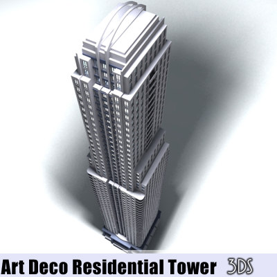 60 art deco residential 3d 3ds