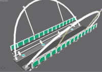 3ds max modern bridge