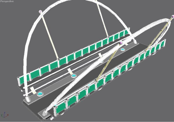 3ds max modern bridge