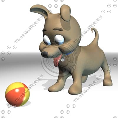 character dog 3d dxf