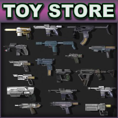 3d model weapon - pistols